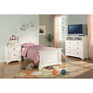 Picket House Furnishings Addison White Twin Panel 5PC Bedroom Set