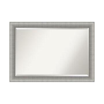 "Amanti Art Elegant Brushed Framed Bathroom Vanity Wall Mirror, 40.75"" x 28.75"""