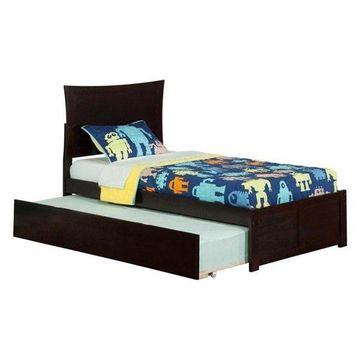 Atlantic Furniture Metro Urban Twin Trundle Platform Bed, Espresso