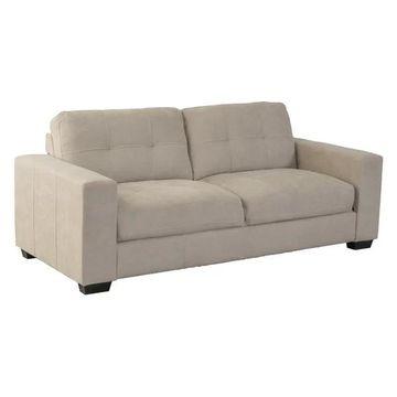 CorLiving Club Chenille Fabric Sofa, Beige
