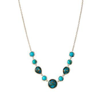 Rock Candy Stone Necklace in Turquoise