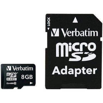 Verbatim 8GB Class 10 microSDHC Card with Adapter