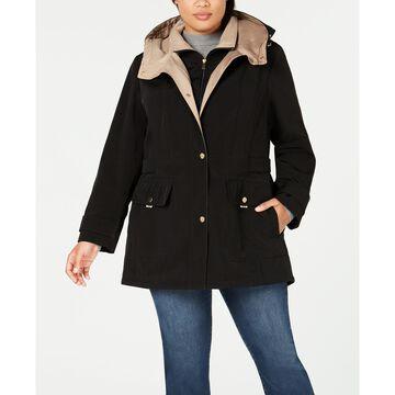 Plus Size Water Resistant Hooded Raincoat
