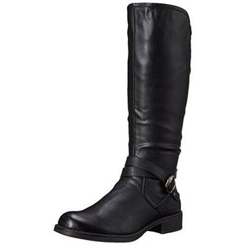 Call It Spring Women's Yeriwiel Riding Boot, Black Synthetic, 6.5 B US