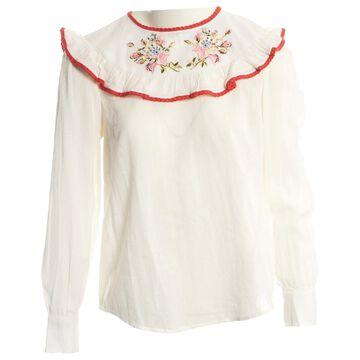 Manoush Ecru Cotton Tops
