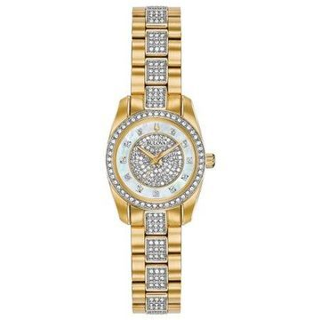 Bulova Women's Crystal Pave Stainless Steel Watch