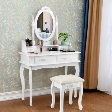 Goplus 14-in White Makeup Vanity
