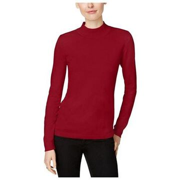 Charter Club Womens Mock-Turtleneck Pullover Sweater