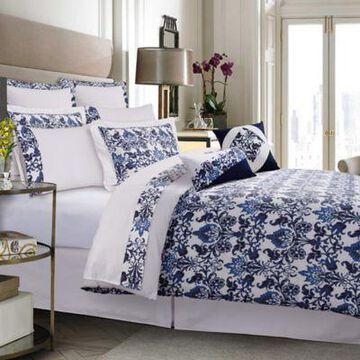 Tribeca Living Catalina 12-Piece 300-Thread-Count Premium Cotton Percale Queen Comforter Set