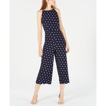 Printed Scalloped Halter Jumpsuit, Created for Macy's