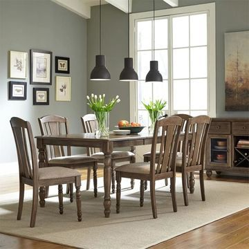 Candlewood Weather Grey 7-piece Rectangular Table Set