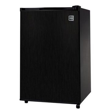 RCA 4.5 Cu Ft Single Door Mini Fridge RFR453, Black Stainless Steel