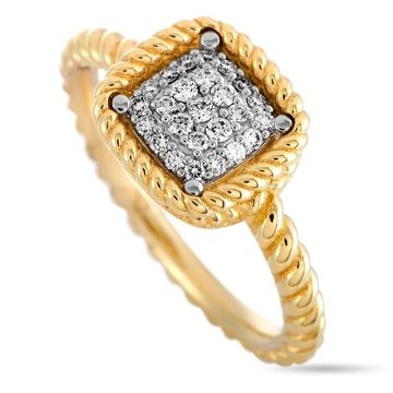 Roberto Coin New Barocco Yellow and White Gold Diamond Ring