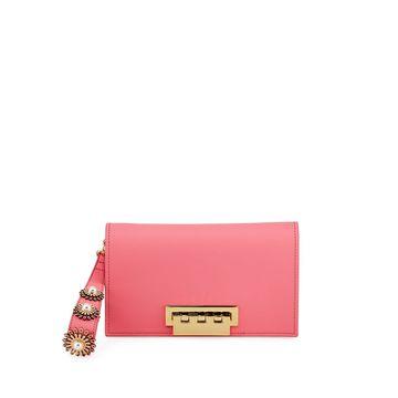 Earthette Pearly Sunburst Leather Clutch Bag