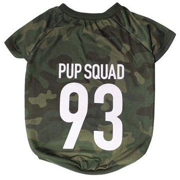 Pets First LaurDIY Pet Tee Shirt for Dogs and Cats - Pup Squad
