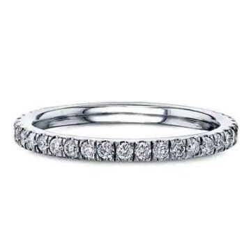 Annello by Kobelli 14k Gold 2/5 CT Scalloped Pave Lab Grown Diamond Band (DEF/VS)