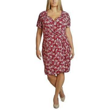 Ultra Flirt Trendy Plus Size Ruched Wrap Dress