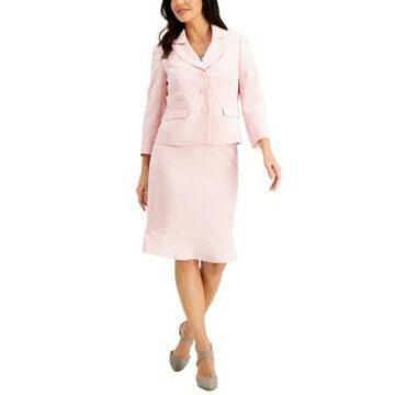 Le Suit Petite Stretch-Crepe Skirt Suit