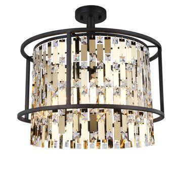 Woodbridge Lighting 17435ORB Cascade Semi-flush