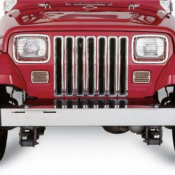 Rampage 7511 Grille Inserts; Chrome;