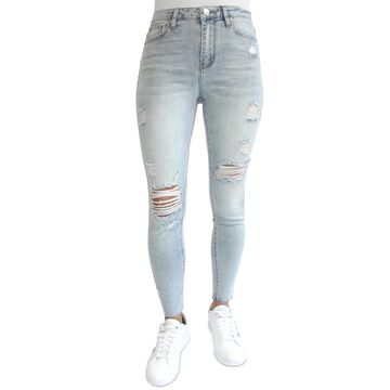 Almost Famous Juniors' Ripped High Rise Skinny Jeans