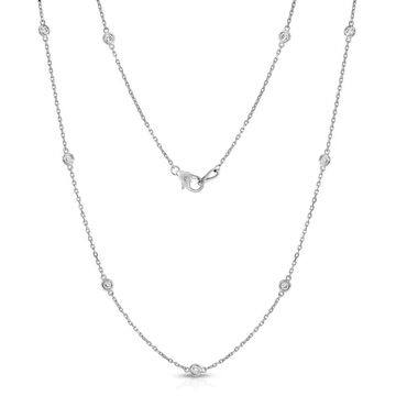 Noray Designs 14k White Gold 1ct TDW Diamond 10 Station Necklace