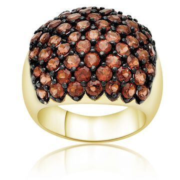 Dolce Giavonna Gold Over Sterling Silver Garnet Cluster Ring
