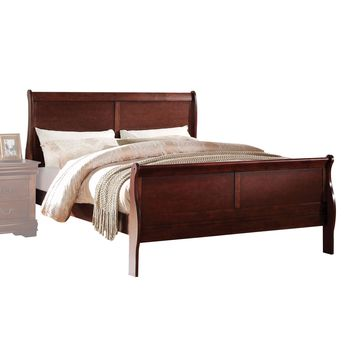 Acme Furniture Louis Philippe Bed, Cherry