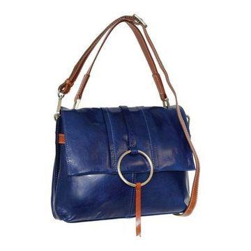 Nino Bossi Women's Nyla Leather Satchel Blue - US Women's One Size (Size None)