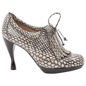 Emporio Armani Brown Leather Heels