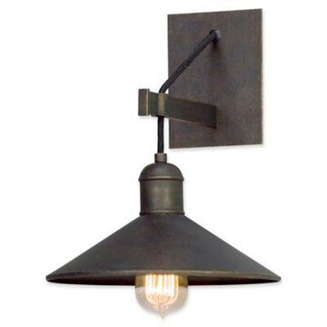 Troy Lighting McCoy Wall Sconce in Bronze with Sloped Shade