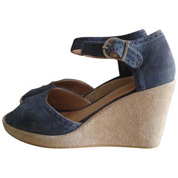 Apc \N Blue Suede Sandals