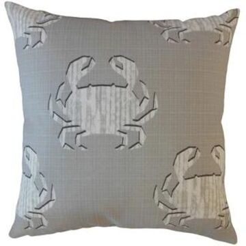 The Pillow Collection Rais Coastal Decorative Throw Pillow (Grey - Euro Square - Square)