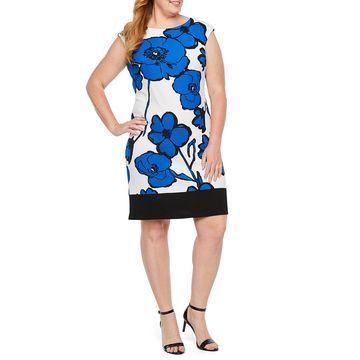 Ronni Nicole Sleeveless Floral Shift Dress-Plus