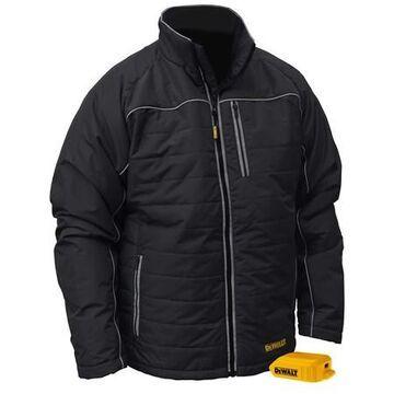 20 V, DEWALT(R) Unisex Heated Quilted Soft She , Unisex , Black , M