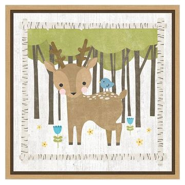 Amanti Art 'Woodland Hideaway Deer' by Moira Hershey