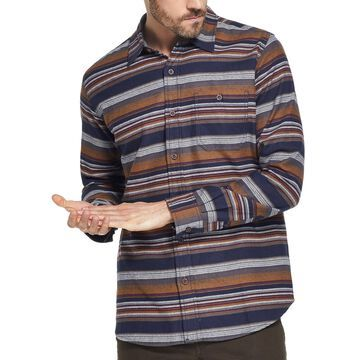 Men's Brushed Striped Flannel Shirt