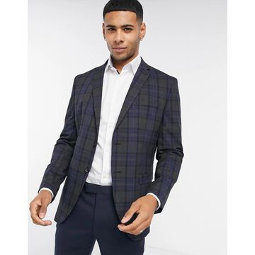 Selected Homme Slim Fit Suit Jacket In Gray Check