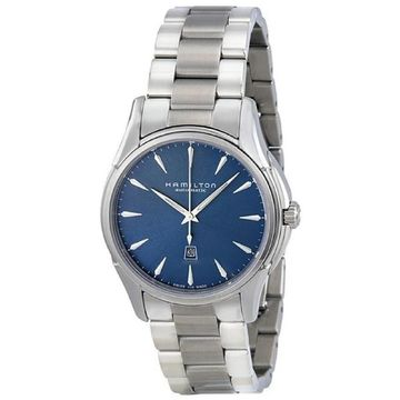 Hamilton Women's H32315141 'Jazzmaster Viewmatic' Automatic Stainless Steel Watch - Blue (Blue)