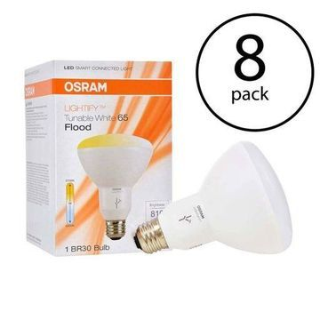 Sylvania Osram Lightify Smart Home 65W BR30 White LED Flood Light (8 Pack)