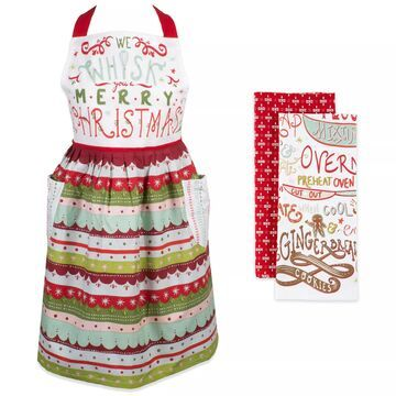 Design Imports We Whisk You A Merry Christmas Apron Set