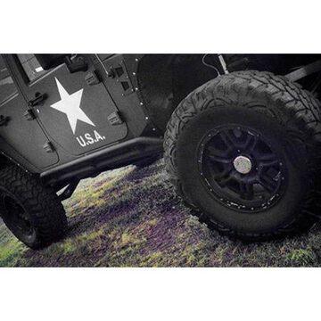 Smittybilt Rock Crawler Rocker Guards (Black) - 76644