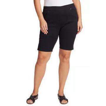 Gloria Vanderbilt Women's Plus Size Avery Pull On Bermuda Shorts - -