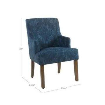 HomePop Meredith Dining Chair - Patterned Indigo (Dark Blue)