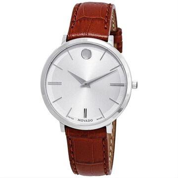 Movado Women's 0607183 'Ultra Slim' Stainless Steel Watch