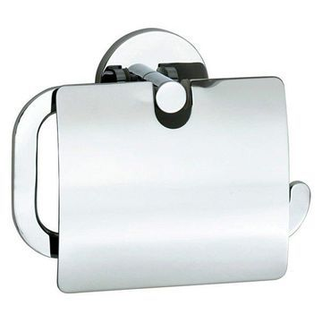 Loft Toilet Roll Holder With Cover Chrome