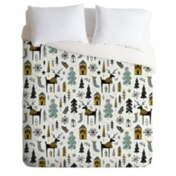 Deny Designs Heather Dutton Christmas Wonderland King Duvet Set Bedding