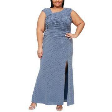 Alex Evenings Plus Size Metallic Draped Gown