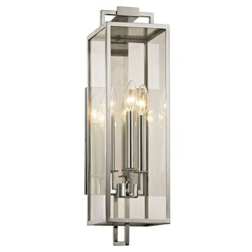 Troy Lighting Beckham 3-light Polished Stainless Outdoor Wall Sconce