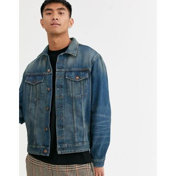 Nudie Jeans Co Jerry denim jacket in dark worn-Blue